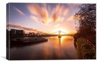 Sunset over Albert Bridge, Canvas Print