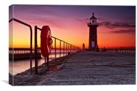 Life preserver (Whitby east pier), Canvas Print