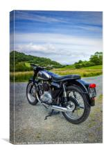 BSA Country Ride , Canvas Print