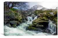 Snow Covered Tryfan, Canvas Print