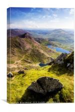 Snowdon Pyg and Miners Track, Canvas Print