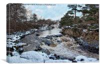 Snow at Low Force Teesdale, Canvas Print