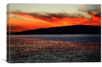 La Gomera Sunset, Canvas Print