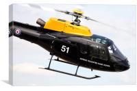 DHFS Squirrel Helicopter, Canvas Print