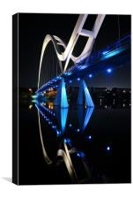 Infinity bridge in early hours, Canvas Print