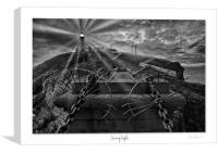 South stack Lighthouse in mono, Canvas Print