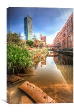 Rochdale Canal & Beetham Tower, Canvas Print