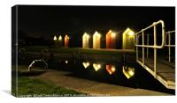 Kelpies Marina Huts , Canvas Print