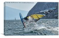 Crazy Windsurfer, Canvas Print