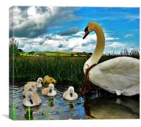 Mother and Kids, Canvas Print