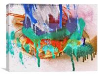 Grunge Abstract Watercolour 2 , Canvas Print