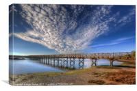 Quinta do Lago Wooden Bridge, Canvas Print