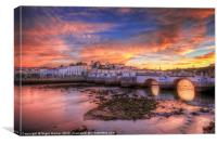 Sunset at Tavira Portugal, Canvas Print
