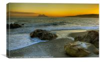 Gibraltar Sunset, Canvas Print