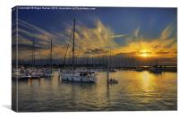 Yarmouth Sundown, Canvas Print