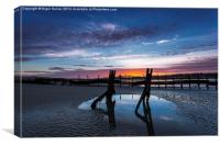 Bembridge Beach Sunset, Canvas Print