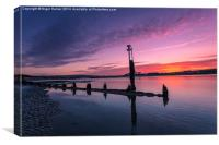 Bembridge Harbour Sunset, Canvas Print