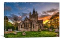 St Mildreds Sunset, Canvas Print