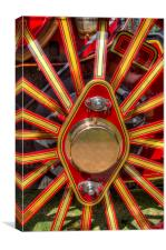 Traction Engine Wheel Detail, Canvas Print