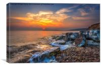 Sunset At Hanover Point, Canvas Print