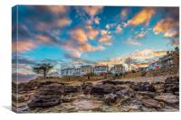 Sunset At Seaview Isle Of Wight, Canvas Print