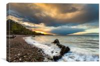 Woodside Bay Isle Of Wight, Canvas Print