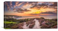 The Needles Sunset Panorama, Canvas Print