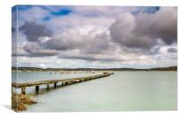 Wooden Jetty Newtown Isle Of Wight, Canvas Print