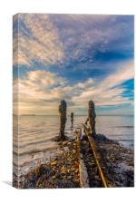 End Of The Line Ryde Isle Of Wight, Canvas Print
