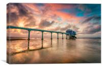 Stormy Lifeboat Station Sunset 2, Canvas Print