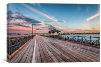 Sunset At Ryde Pier, Canvas Print