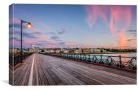 Sunset Afterglow At Ryde Pier, Canvas Print