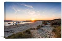 Bembridge Sand Dune Sunset, Canvas Print