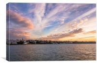 Ryde's Western Beach Sunset, Canvas Print