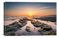 Compton Bay Sunset Isle Of Wight, Canvas Print