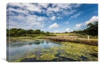 The Causeway Newtown Isle Of Wight, Canvas Print