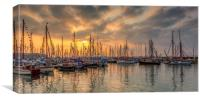 Old Gaffer Sunset Yarmouth Isle Of Wight, Canvas Print