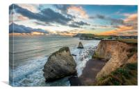 Freshwater Bay Isle Of Wight, Canvas Print