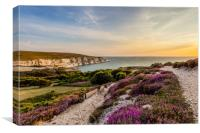 The Needles At Sunset Isle Of Wight, Canvas Print
