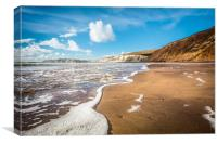 Compton Bay Beach Isle Of Wight, Canvas Print