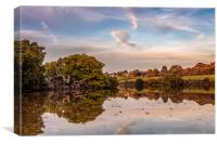 Autumn Mill Pond Wootton Bridge Isle Of Wight, Canvas Print