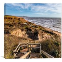 Chilton Chine Isle Of Wight, Canvas Print
