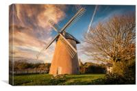 Bembridge Windmill Sunset Isle Of Wight, Canvas Print