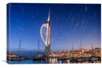 Spinnaker Tower With Star Trails, Canvas Print