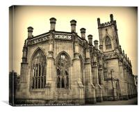 Liverpool (Bombed Out Church), Canvas Print