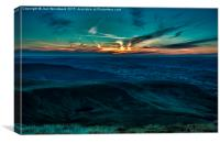 Sunset From Pen Y Fan Brecon Beacons, Canvas Print
