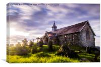 Old Llandrindod Wells Church, Canvas Print