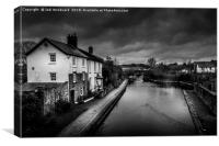 Brecon Canal Cottages, Canvas Print