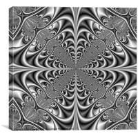Gothic Geometry in Monochrome, Canvas Print