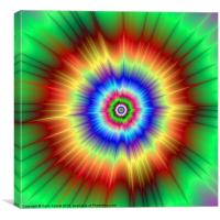 Orange and Green Color Explosion, Canvas Print
